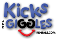 Kicks and Giggles Rentals | The Premiere Inflatable Moonwalk, Jump House, Waterslide, and Bounce House Rental company in NC.